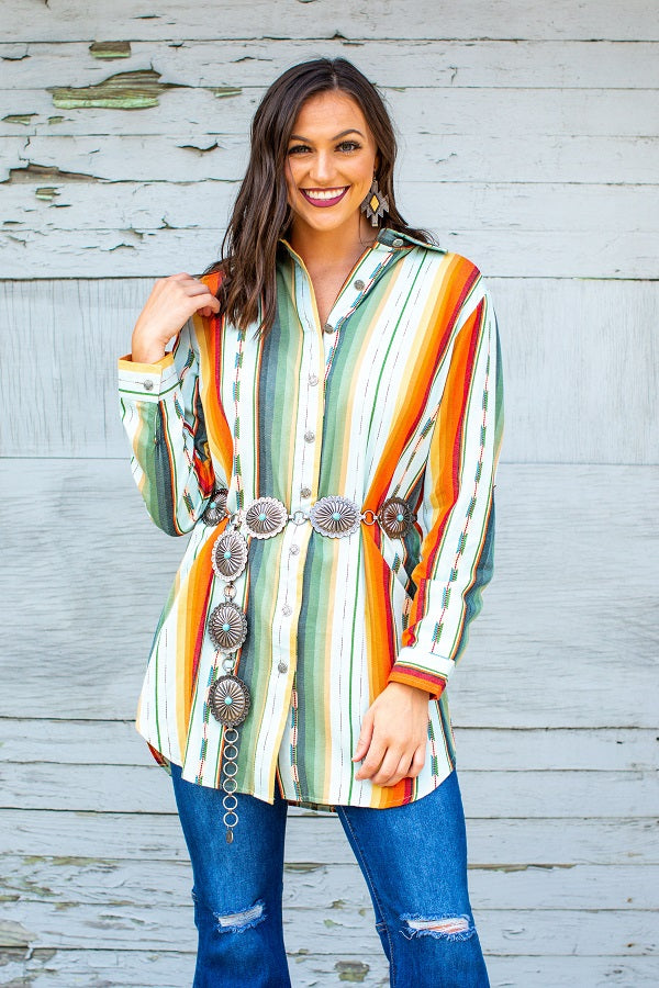 Desperado Button-down Tunic - The Tillie Rose Boutique