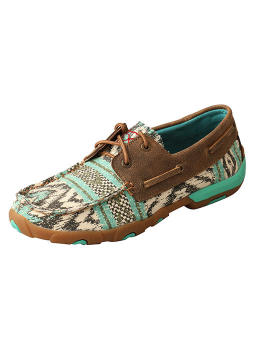 Twisted X Women's Mint Aztec Boat Shoe - The Tillie Rose Boutique
