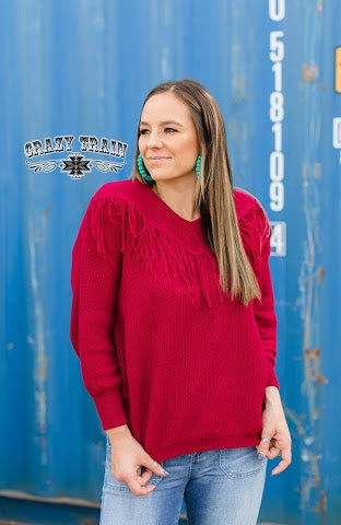 Vaquera Vibes Wine Sweater - The Tillie Rose Boutique