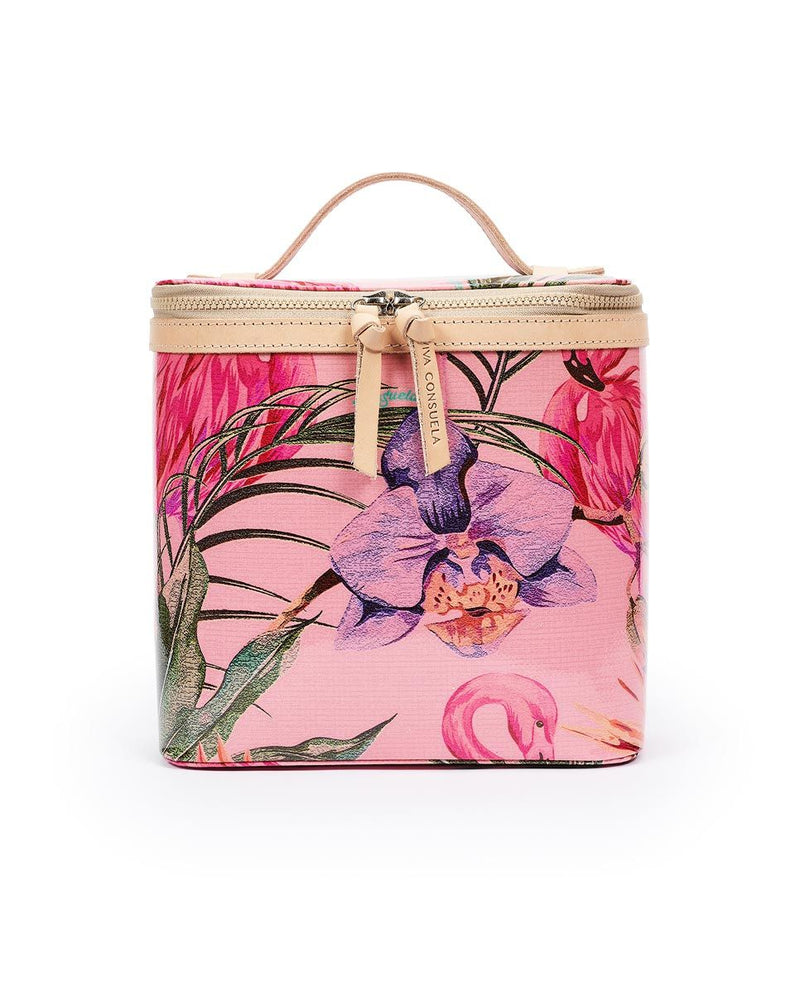 Brynn Flamingo SLIM Train Case by Consuela
