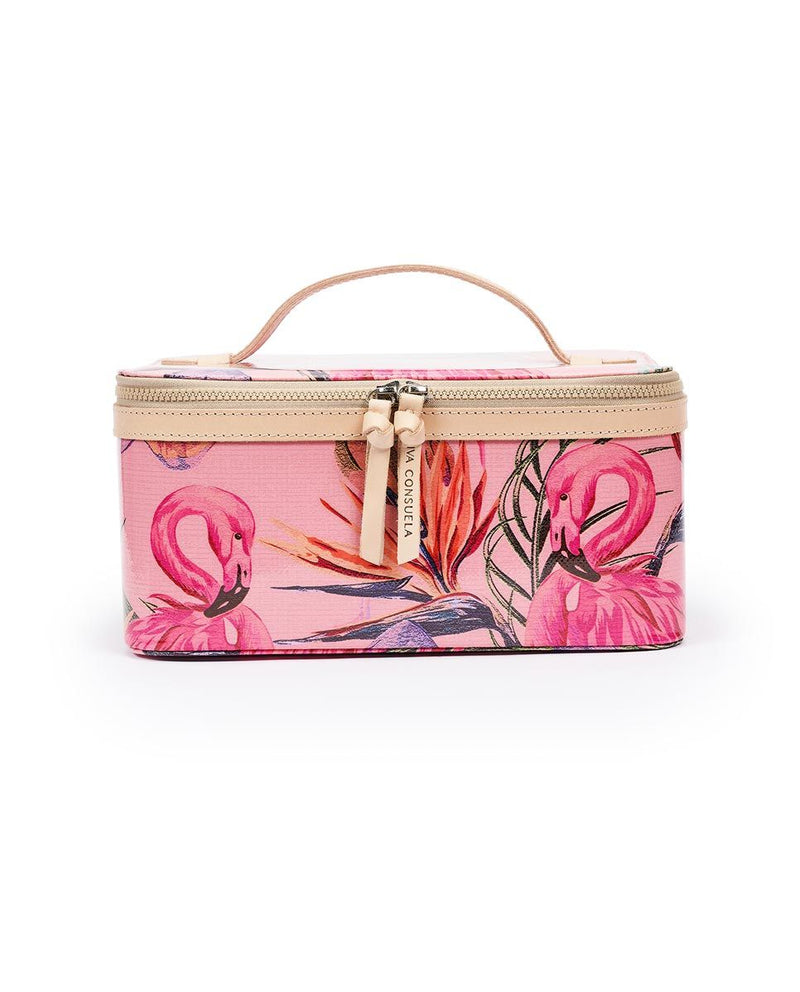 Brynn Flamingo Train Case by Consuela