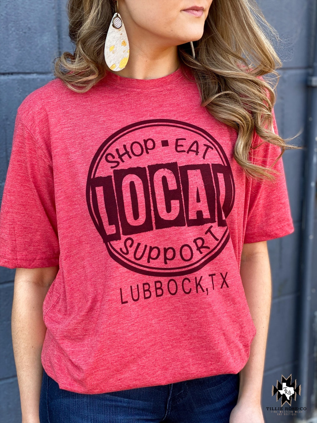 Support Local Lubbock Tee