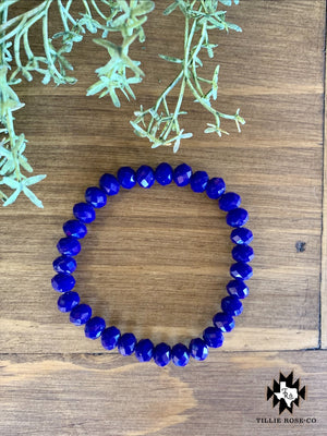 Navy Blue Beaded Bracelet - The Tillie Rose Boutique