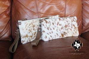 Hair on Cowhide Wristlet in Sweet Cream - The Tillie Rose Boutique