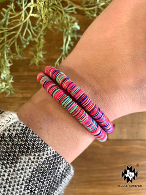 Multi-Color Disk Bracelet - The Tillie Rose Boutique