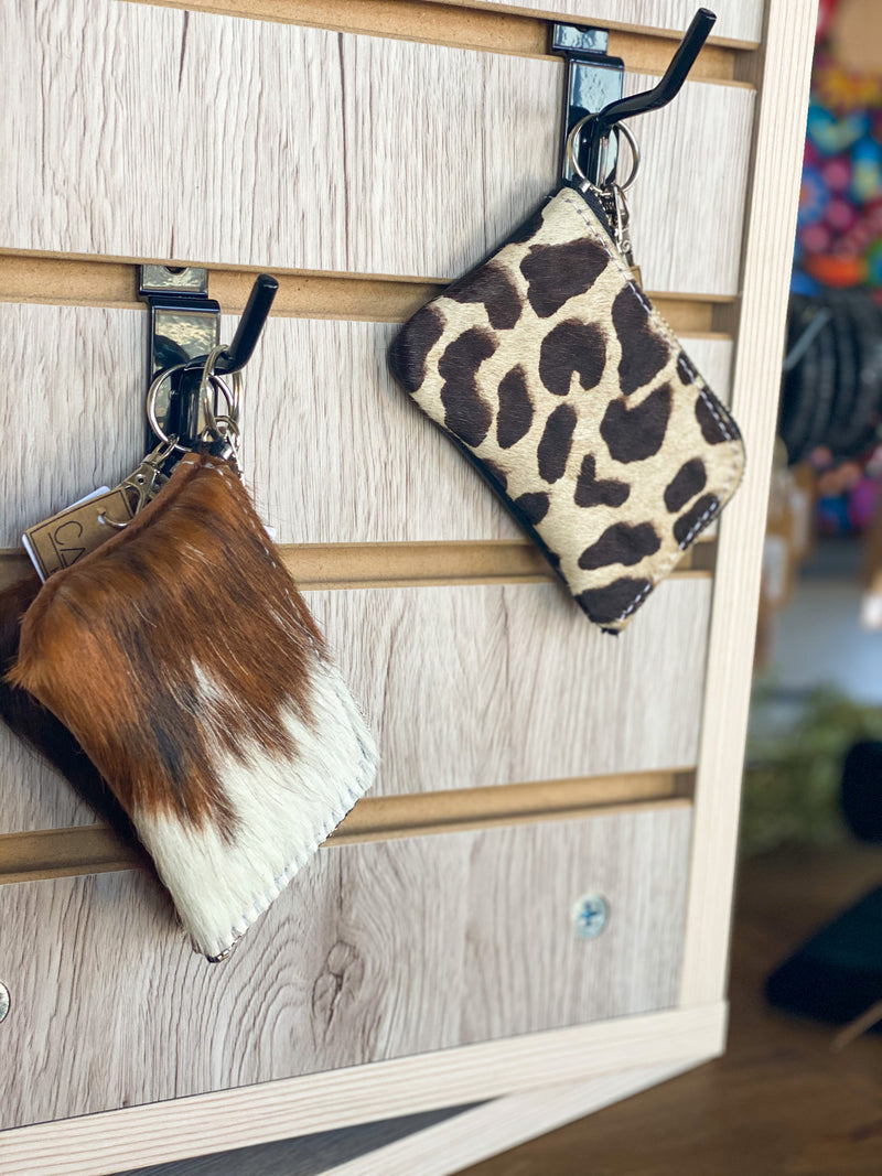 Cowhide Coin Purse - The Tillie Rose Boutique
