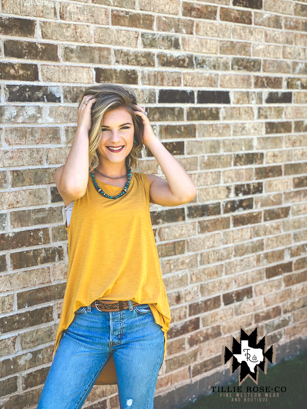 Mustard Summer Tank - The Tillie Rose Boutique