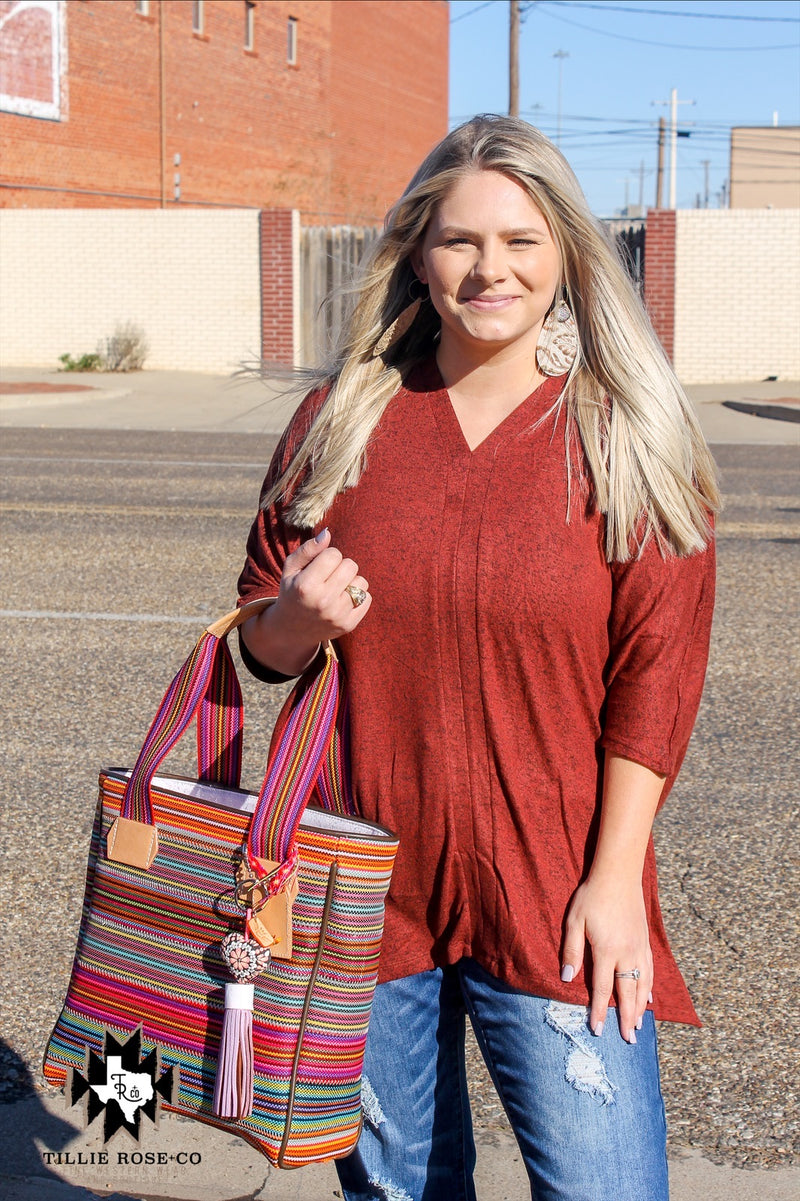 Fired Brick Smock Tunic - The Tillie Rose Boutique