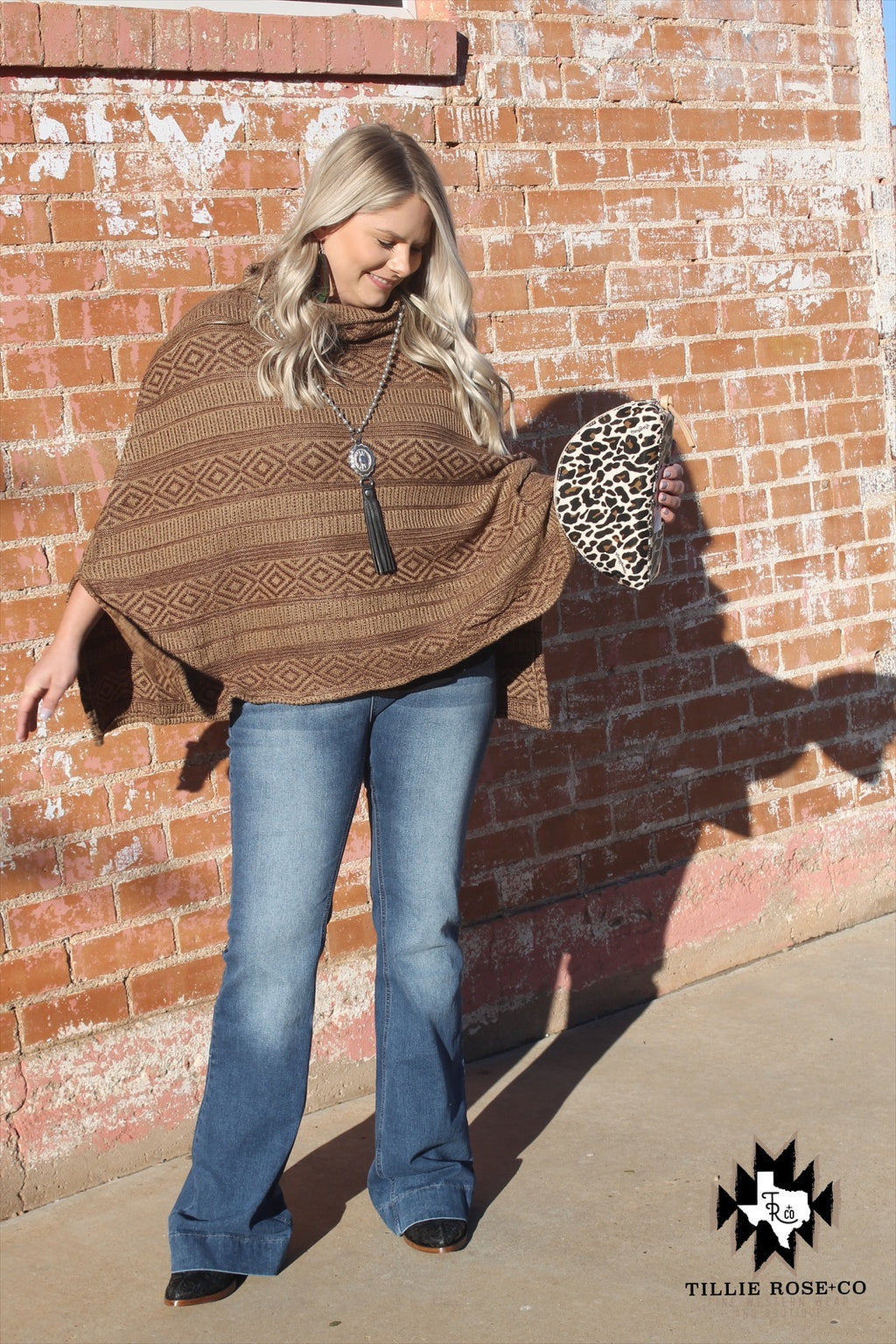 Mocha Poncho n Lefty Poncho - The Tillie Rose Boutique