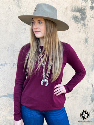 Basic Burgundy Longsleeve