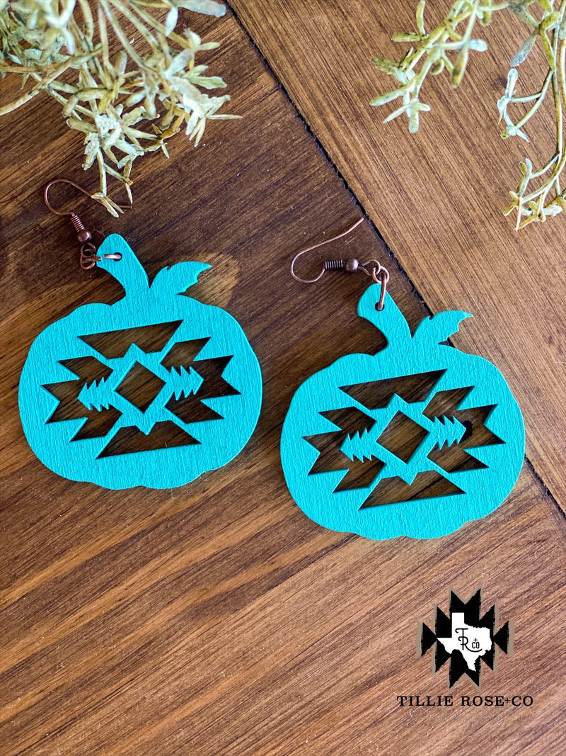 Turquoise Pumpkin Spice Earrings - The Tillie Rose Boutique
