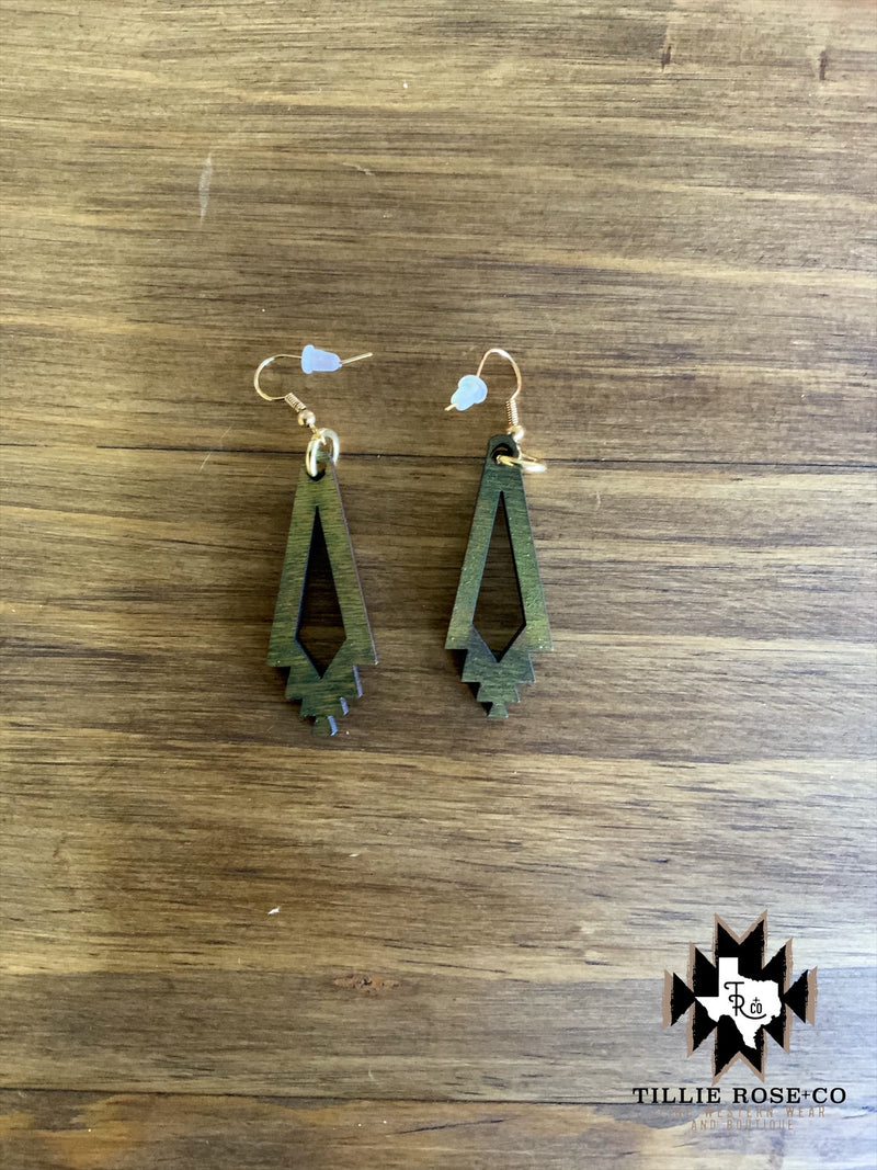 Green Santa Fe Cutout Earrings - The Tillie Rose Boutique
