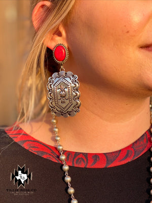 Red Ranger Earrings - The Tillie Rose Boutique