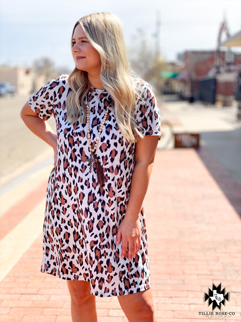 Leopard on Me Summer Dress