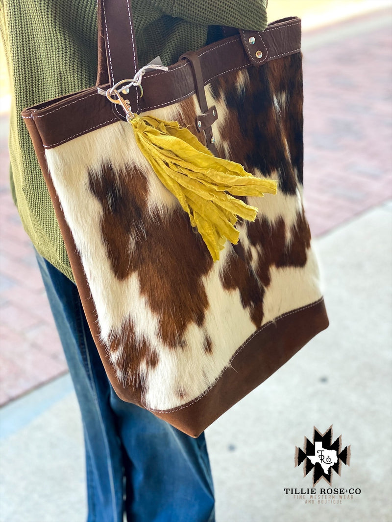 Panhandle Cowhide and Leather Tote - The Tillie Rose Boutique