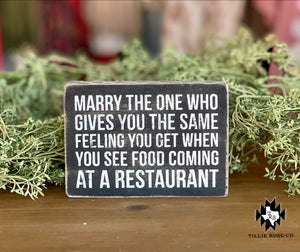 Marry the One Who Sign