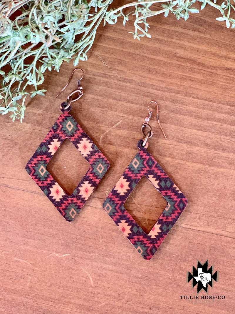 Aztec Diamond Earrings