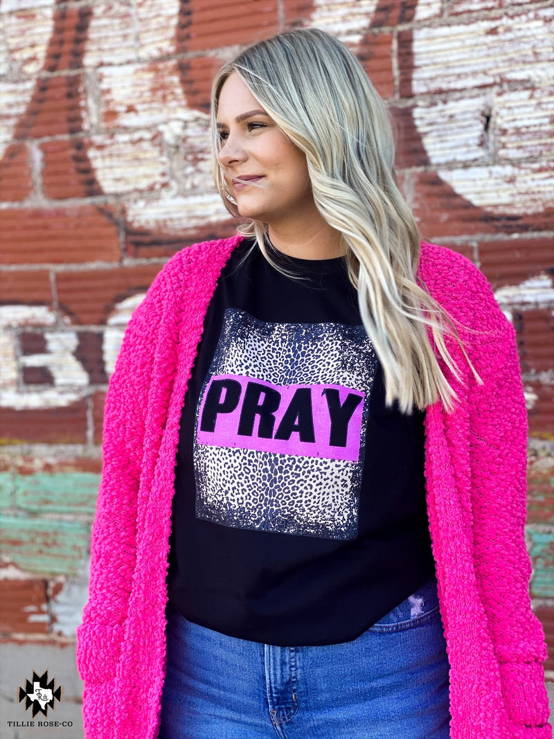 Pray Retro Leopard Tee