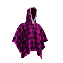 Load image into Gallery viewer, Pook Poncho - Adult Pink Polar Fleece w/ Snap Fastners