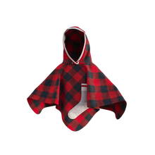Load image into Gallery viewer, Pookie Poncho - Red Toddler/Youth Polar Fleece