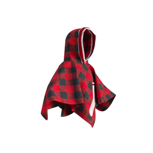 Pookie Poncho - Red Toddler/Youth Polar Fleece