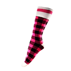 Pook Socks - Pink Plaid
