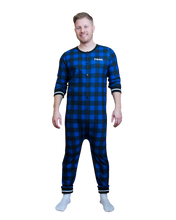 Load image into Gallery viewer, Pook (Blue Plaid) Union Suit
