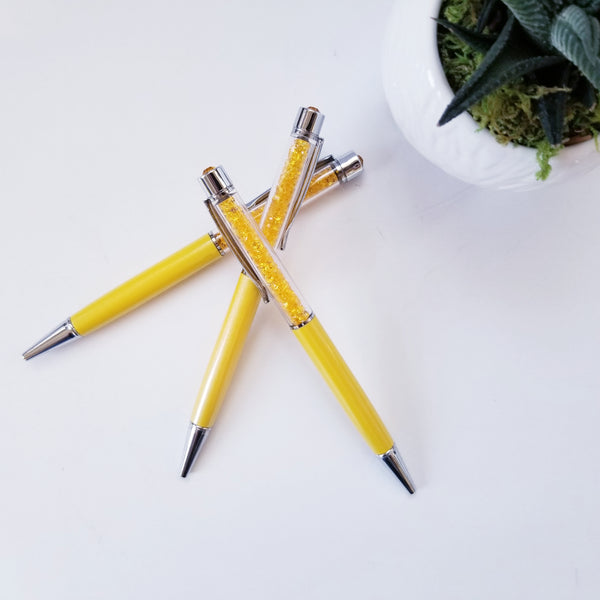 Yellow Crystal Pen