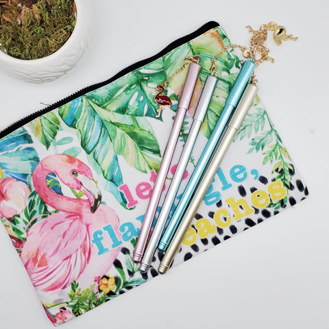FLAMINGO POUCH AND PEN BUNDLE (JUNE 2020)