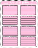 Pastel Ripped Sheet Half Boxes