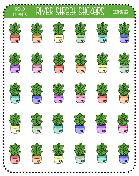 Bold Plant Icons