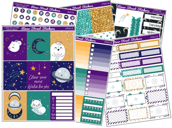 Constellation Creatures Weekly Planner Sticker Kit