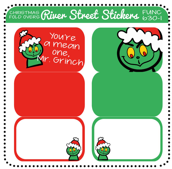 Christmas Fold Over Half Boxes- The Grinch