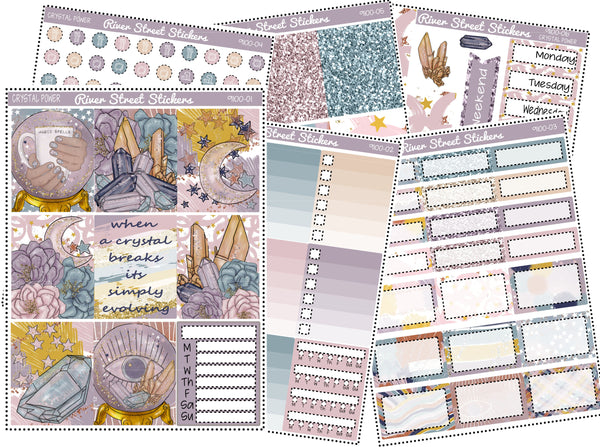Crystal Power Weekly Planner Sticker Kit