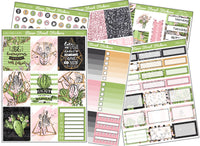 Cactus Love Weekly Planner Sticker Kit