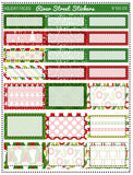 Holiday Faces Planner Sticker Kit