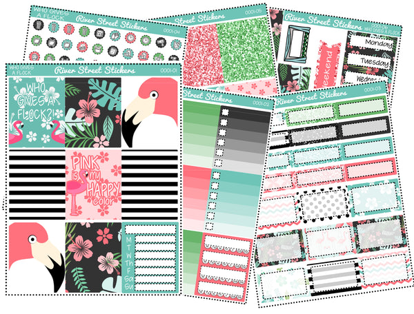 Who Gives A Flock Weekly Planner Sticker Kit