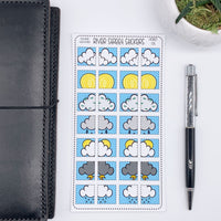 Weather Boxes for Hobonichi Weeks