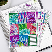 Succulents Weekly Planner Sticker Kit