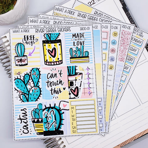 WHAT A PRICK WEEKLY PLANNER STICKER KIT
