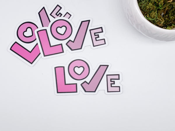 Love Sticker Die Cuts