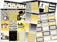Walters New Years Eve Weekly Planner Sticker Kit