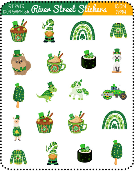 St. Patrick Day Icon Sampler