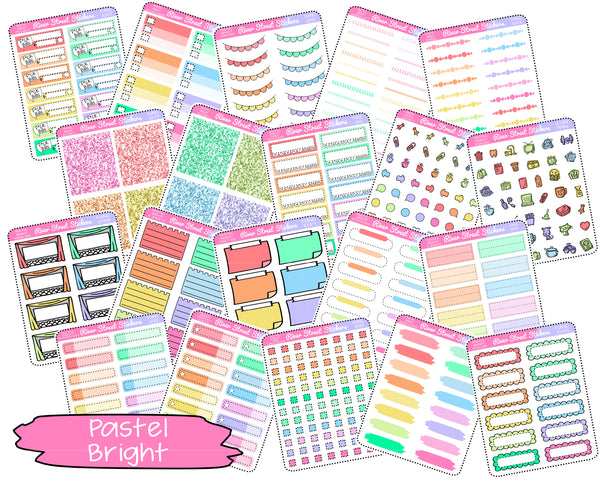 Pastel Bright Color Collection