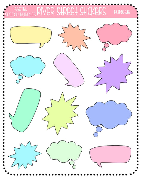 Pastel Speech Bubbles