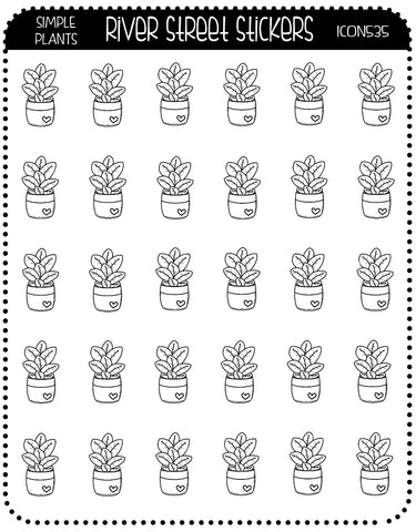 SIMPLE PLANT ICONS