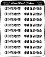 Out Of Spoons Script