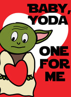 Yoda Valentine Card - Foldable 4x6