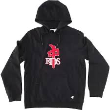 RDS HOOD OF CHENILLE HOODIE BLACK RED