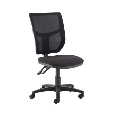 Altino 2 lever high mesh back operators chair with no arms - Blizzard Grey - Furniture